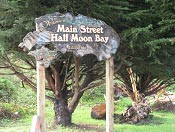 photo of Main Street Half Moon Bay sign by Michael Wong of SpringMountainGallery.com